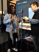 Whoopi Goldberg trying out the Candy Machine